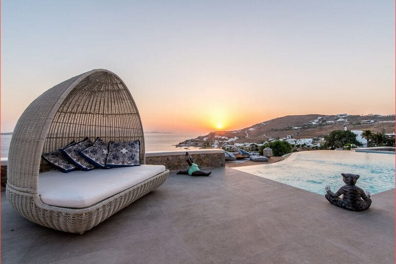 Agios Ioannis, Luxury Villa with sea and sunset views